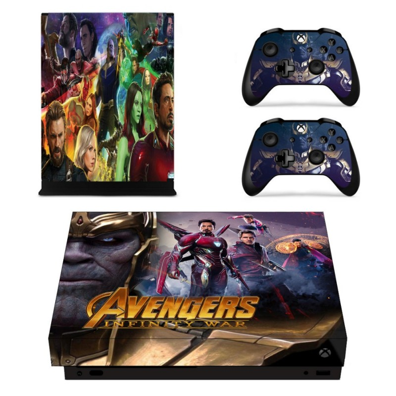 Console stickers Avengers Xbox One X