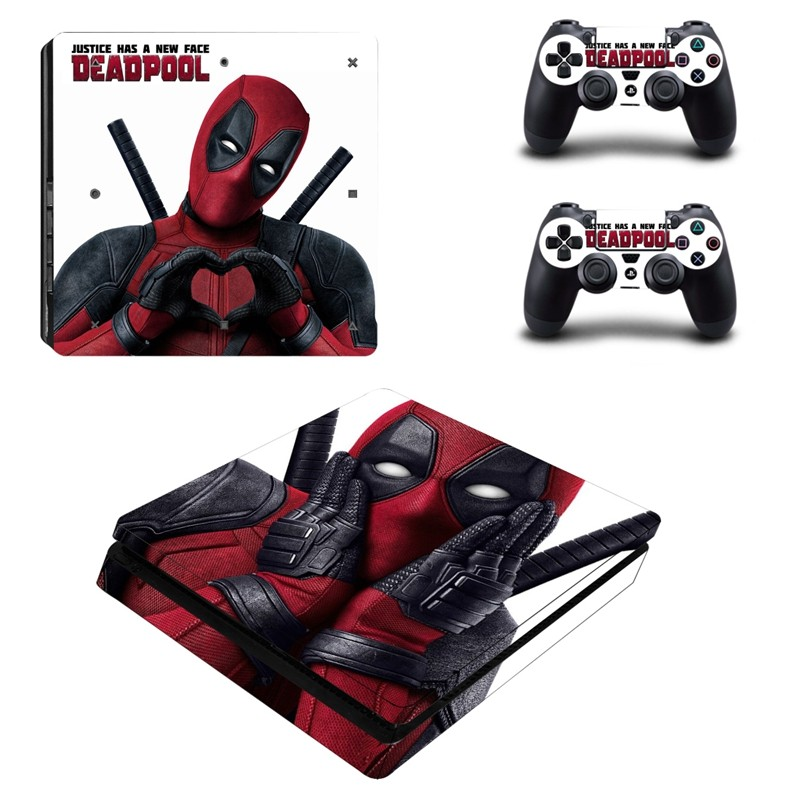 Console stickers Deadpool PS4 Slim