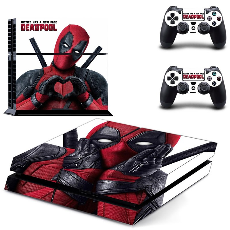 Console stickers Deadpool PS4