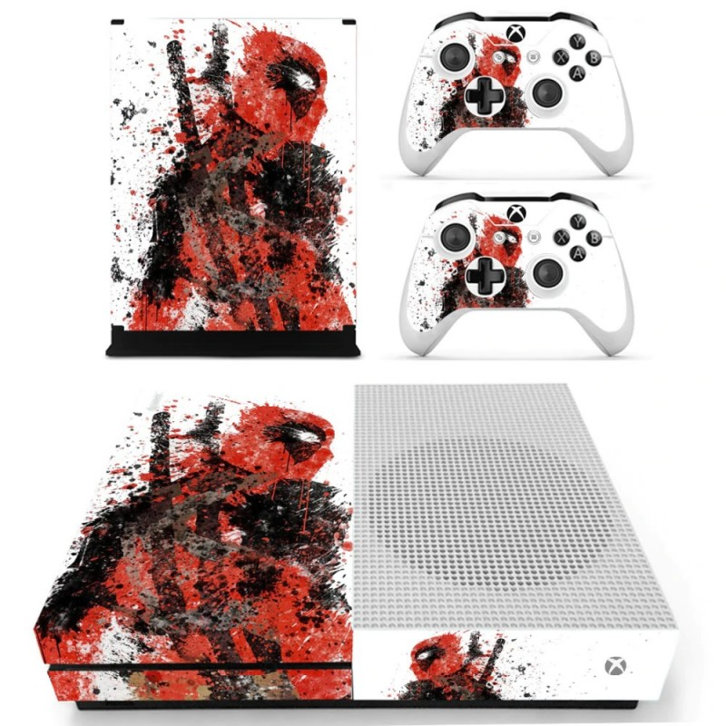 Console stickers Deadpool Xbox One S