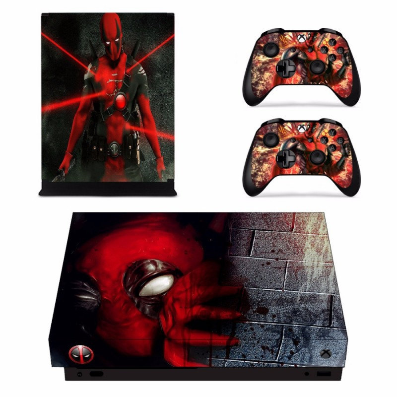 Console stickers Deadpool Xbox One X