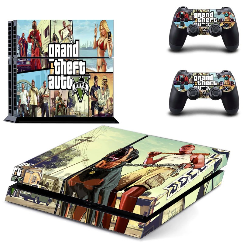 Console stickers Grand Theft Auto PS4