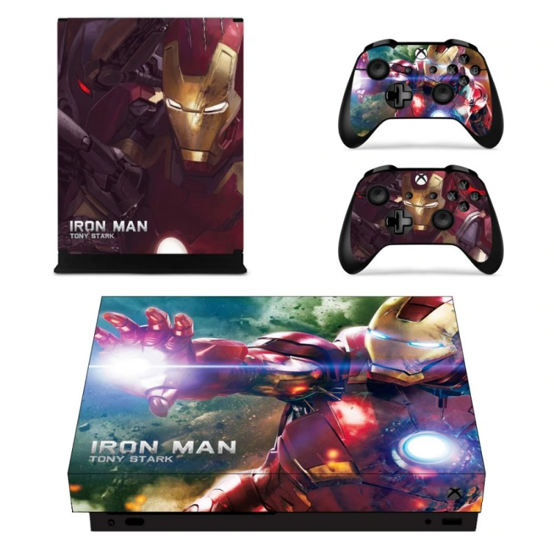 Console stickers Iron Man Xbox One X