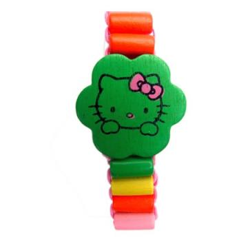 Houten armband Hello Kitty
