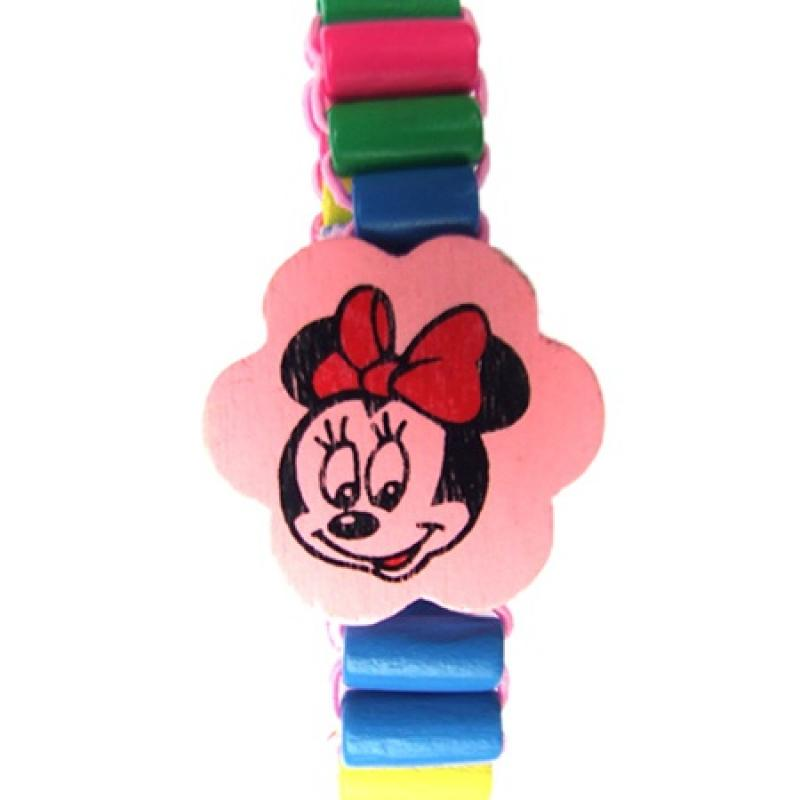 Houten armband Mickey Mouse