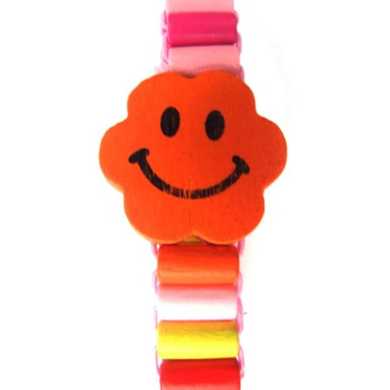 Houten armband smilie